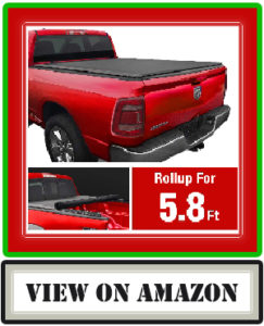 MaxMate Soft Roll-up Truck Bed Tonneau Cover for Dodge Ram